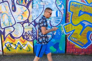 Shoreditch graffiti camouflage van