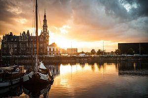 Loodswezen aan het Willemdok in Antwerpen van