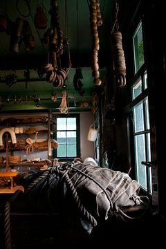 Touwslagerij in Zuiderzeemuseum van Arthur van Iterson