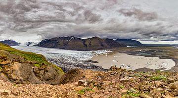 Panorama des Vatnajökull-Gletschers von Easycopters