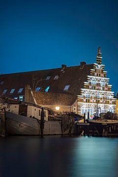 Kanal in Leiden, Holland von Sander van Driel