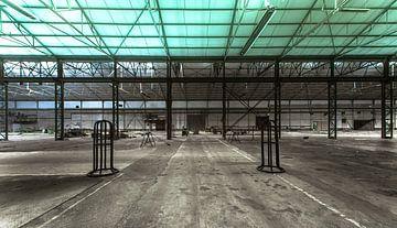 Ancien hall de production sur Olivier Van Cauwelaert