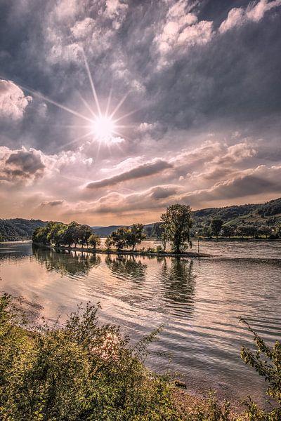 De Rijn in Duitsland vlak onder Koblenz van Harrie Muis