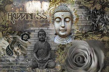 Glück / Buddha von Helga van de Kar