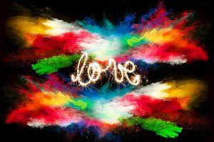 Explosion der Farbe und der Liebe