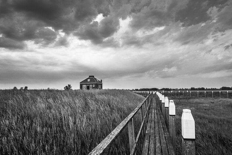 Oude haven en Misthoornhuisje - Schokland van Martzen Fotografie