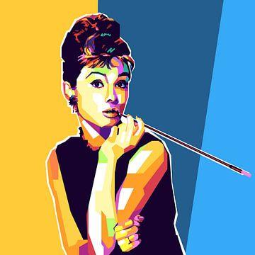 Audrey Hepburn Pop-Art-Malerei von Kunst Company