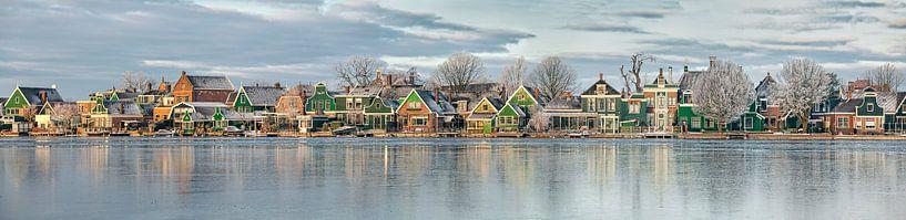 Panorama der Zaan-Häuser entlang der Zaan von Frans Lemmens
