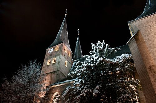 Bergkerk Deventer in de winter