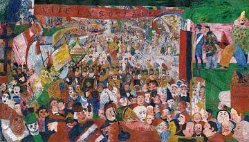 James Ensor. De binnenkomst van Christus in Brussel