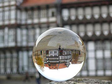 Burgplatz Braunschweig, Glaskugel-Fotografie van