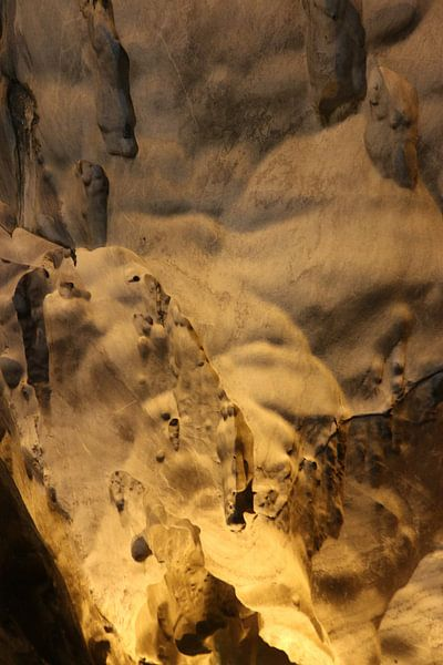 Gnomen en trollen op een grotwand. van kall3bu