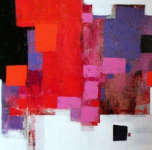Abstrakt Nr.78 (Rot-Rosa)