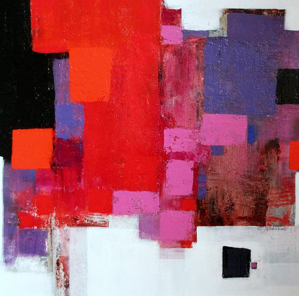 Abstrakt Nr.78 (Rot-Rosa) van Claudia Neubauer