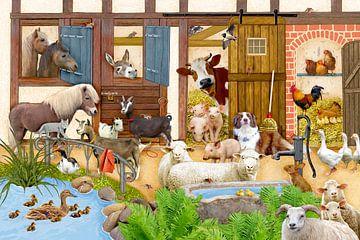 Tiere auf dem Bauernhof van Marion Krätschmer