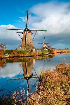 Spiegelung Windmühle von Paul Vergeer