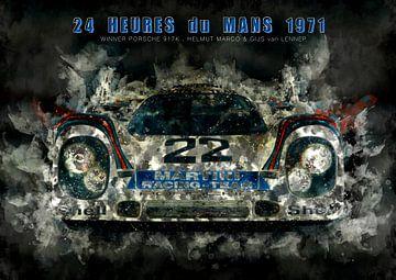 Porsche 917K, Le Mans Sieger 1971 in der Nacht von Theodor Decker