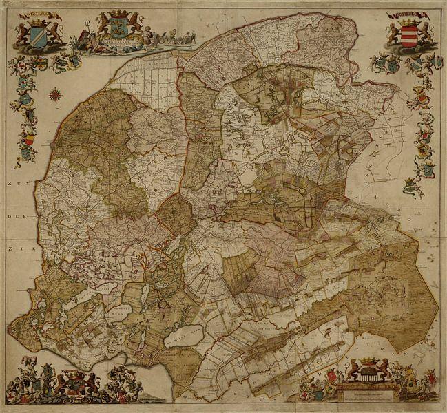 Karte von Friesland von Rebel Ontwerp