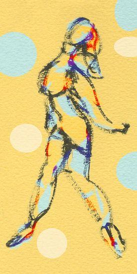 Vrouw in beweging