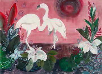 2 Flamingos von Carmen Eisele