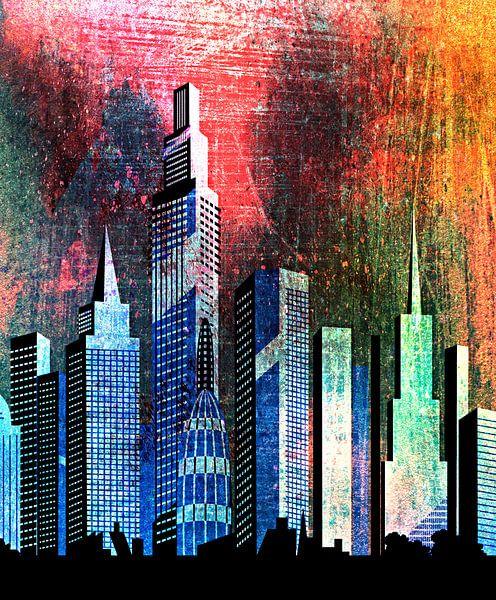 City skyline no.2 von PictureWork - Digital artist