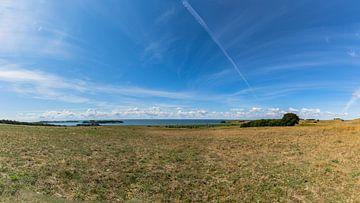 Groß Zicker, Blick zum Klein Zicker, den Zicker See und die Ostsee, Rügen von GH Foto & Artdesign