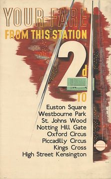 Ihr Fahrpreis ab diesem Bahnhof - Laszlo Moholy-Nagy, 1936 von Atelier Liesjes