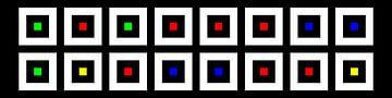 Nested | Center | 08x02 | N=02 | Random #09 | RGBY van Gerhard Haberern