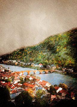Duitsland Heidelberg #Duitsland van JBJart Justyna Jaszke