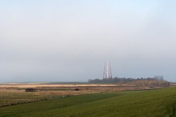 Vuurtoren in de mist van Rolf Pötsch