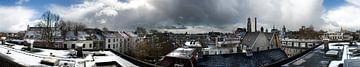 Winters panorama Utrecht van