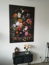 Klantfoto: Stilleven met bloemen in een vaas, Jan Davidsz. de Heem, op canvas