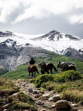 Reiter zu Pferd von Derrick Kazemier