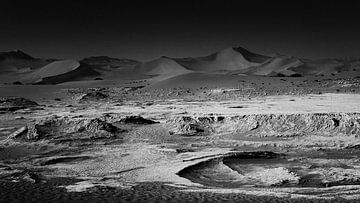 Mondlandschaft auf der Erde in Namibia von Lars Beekman