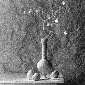 Stilleven in grijstinten van Raoul Suermondt