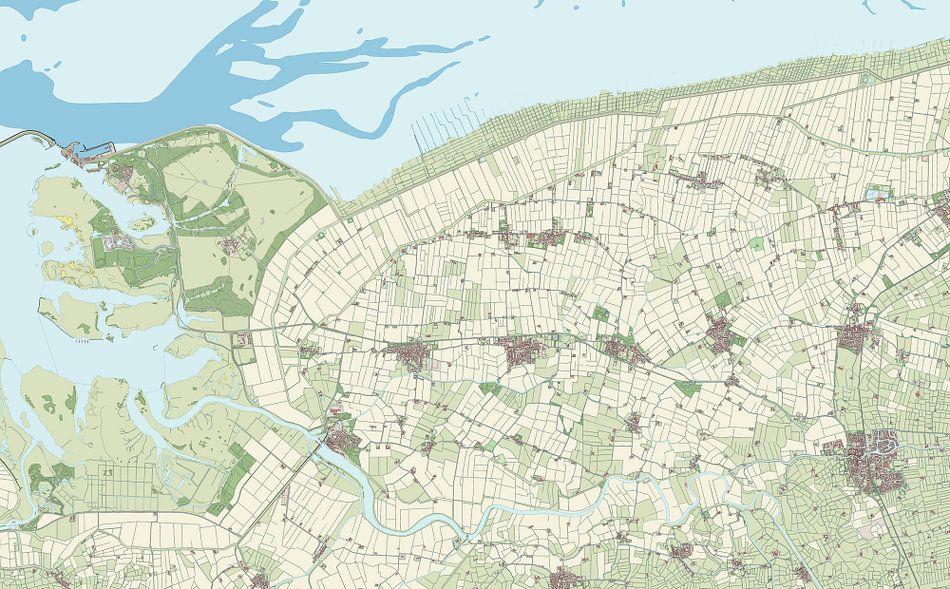 Kaart van De Marne
