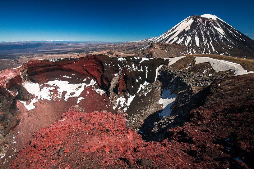 Red Crater, Tongariro, Nieuw-Zeeland van Martijn Smeets
