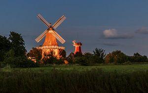 Zwillingsmühle Greetsiel von Marga Vroom
