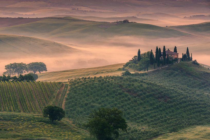 Podere Belvedere, Val d'Orcia, Toscane, Italië van Henk Meijer Photography