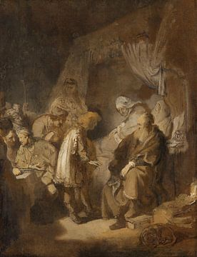 Joseph erzählt seine Träume, (vermutlich nach) Rembrandt van Rijn