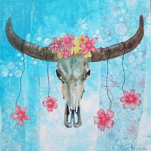 Skull flowers van