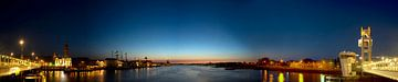 Kampen Nacht Panorama von