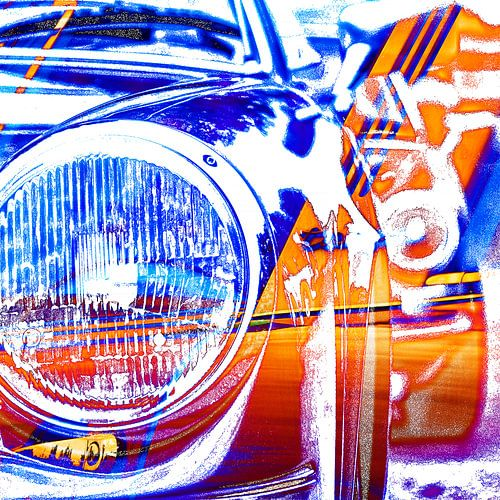 Kleurrijke Porsche Targa kunst van 2BHAPPY4EVER.com photography & digital art