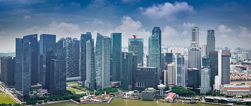 Panorama van het hart van Singapore