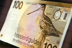 100 gulden biljet - 100 guilder banknote van Wim Goedhart