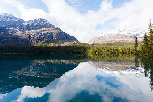 Het spiegelmeer van Lake O'Hara