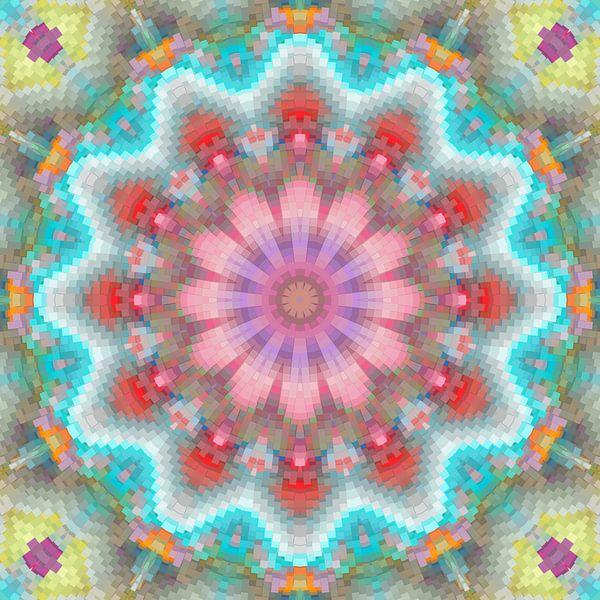 Couleurs du printemps Mandala sur Marion Tenbergen