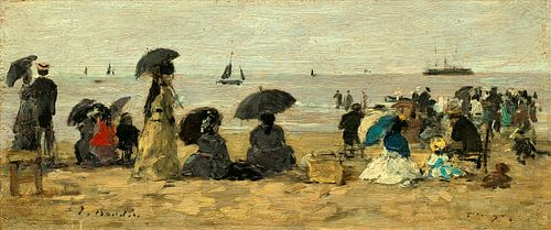 het Strand, Eugène Boudin