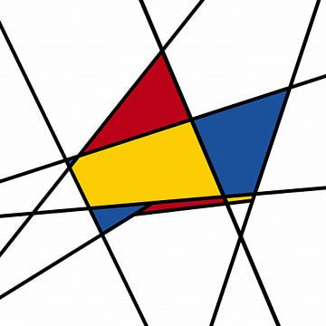 Piet Mondrian-abstrakt von Marion Tenbergen