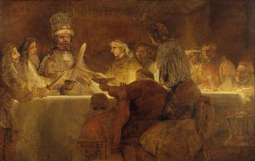 The Conspiracy of the Batavians under Claudius Civilis, Rembrandt von Rembrandt van Rijn